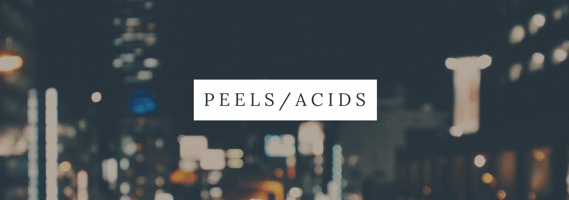 Acids, chemical peels and glowing skin